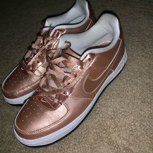 Rose Gold Nike Air Sneakers